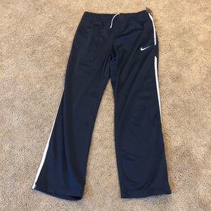 Nike track pants NWT navy/white stripe zipper legs